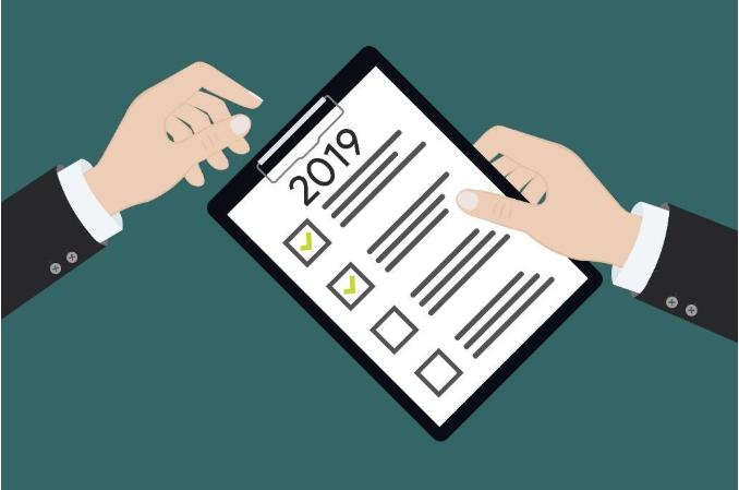 2019 checklist clipboard.